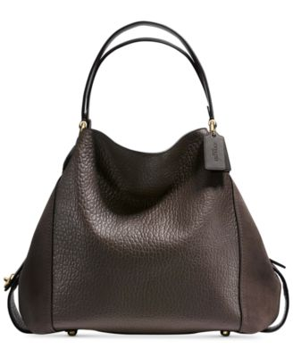COACH Edie Shoulder Bag 42 In Mixed Leathers