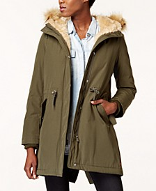 Arctic Cloth Faux-Fur-Trim Parka