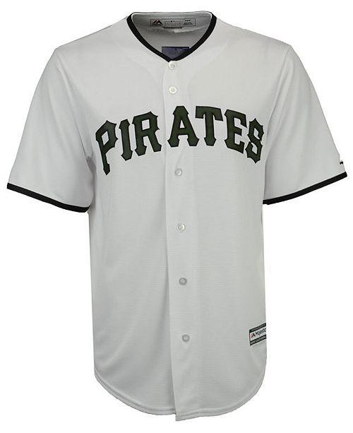94eea257e25 Majestic Men s Pittsburgh Pirates USMC Cool Base Jersey   Reviews ...