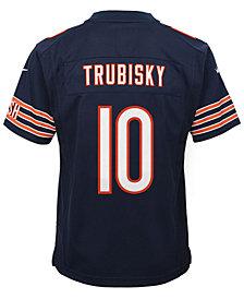 Nike Mitchell Trubisky Chicago Bears Game Jersey, Big Boys (8-20)