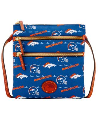 Denver Broncos Nylon Triple Zip Crossbody