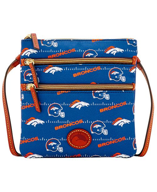 Dooney & Bourke Denver Broncos Nylon Triple Zip Crossbody