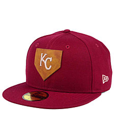 New Era Kansas City Royals The Logo of Leather 59FIFTY Fitted Cap