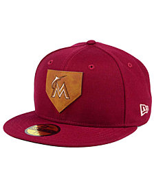 New Era Miami Marlins The Logo of Leather 59FIFTY Fitted Cap