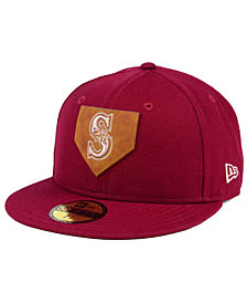New Era Seattle Mariners The Logo of Leather 59FIFTY Fitted Cap