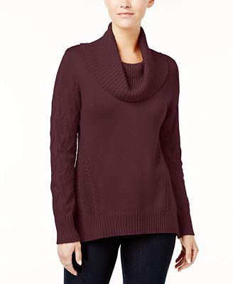 Style & Co Petite Cowl-Neck Sweater, Created for Macy's - Sweaters ...