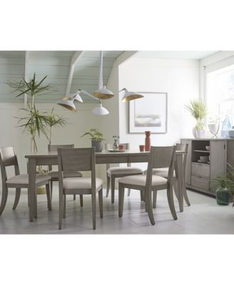 Tribeca Grey Expandable Dining Room Furniture Collection, Created For Macyu0027s