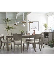 Tribeca Grey Expandable Dining 7-Pc. Set (Dining Table & 6 Side Chairs), Created for Macy's