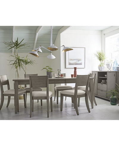 Tribeca Grey Expandable Dining Room Furniture Collection, Created ...