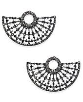 I.N.C. Hematite-Tone Gray Pavé Stud Earrings, Created for Macy's