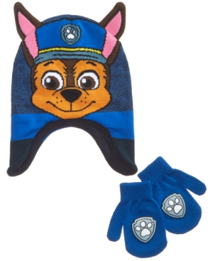 Paw Patrol 2Pc Hat  Mittens Set Toddler Boys (2T5T)