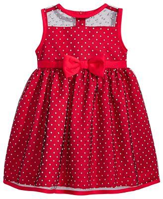 Penelope Mack Dot-Mesh Dress, Baby Girls (0-24 months)