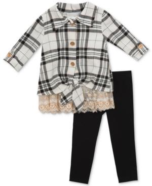 Rare Editions 2Pc Plaid Tunic  Leggings Set Baby Girls (024 months)