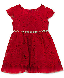 Rare Editions Embellished Lace Dress, Baby Girls (0-24 months)