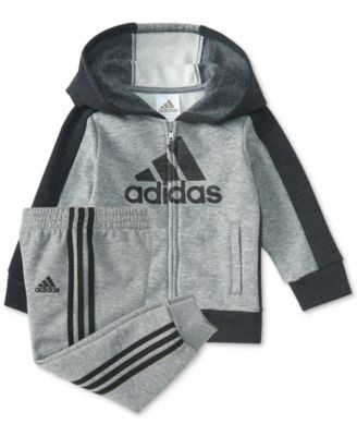 adidas 2-Pc. Logo-Graphic Hoodie \u0026 Pants Set, Baby Boys (