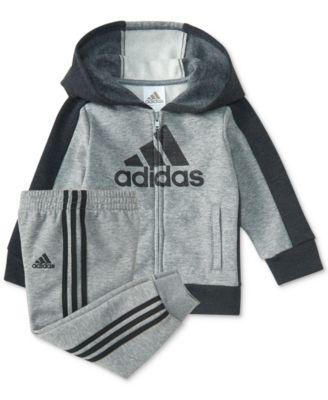adidas 2-Pc. Logo-Graphic Hoodie \u0026 Pants Set, Baby Boys (