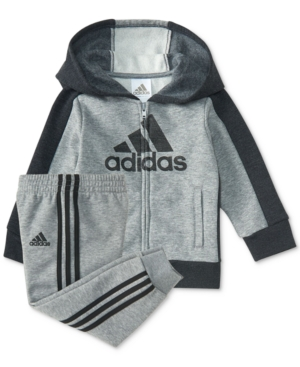adidas 2Pc LogoGraphic Hoodie  Pants Set Baby Boys (024 months)