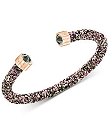 Swarovski Rose Gold-Tone PVD Crystal Open Bangle Bracelet