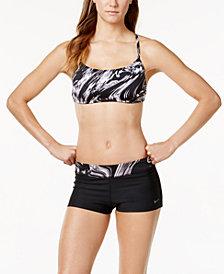 Nike Reversible Printed Halter Bikini Top & Swim Shorts