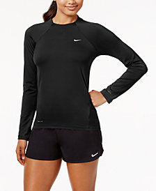 Nike Long-Sleeve Rash Guard & Swim Shorts