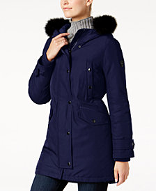 MICHAEL Michael Kors Fox-Fur-Trim Parka