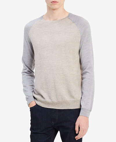Calvin Klein Men's Merino Raglan Sweater