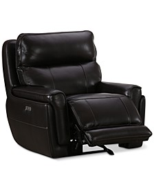 Summerbridge Leather Power Glider Recliner with Power Headrest and USB Power Outlet