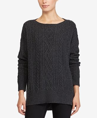Lauren Ralph Lauren Cable-Knit Sweater - Sweaters - Women - Macy's