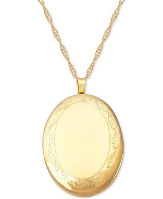 Swirl oval locket necklace in 14k gold necklaces jewelry swirl oval locket necklace in 14k gold aloadofball Images