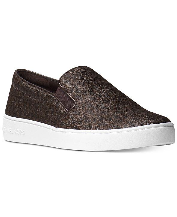 Michael Kors Keaton Slip-On Signature Logo Sneakers