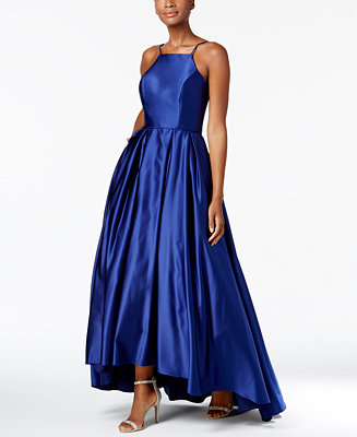 Betsy Amp Adam High Low Satin Gown Amp Reviews Dresses