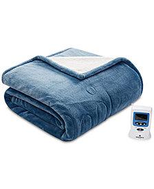 Woolrich Heated Plush to Berber Reversible Queen Blanket