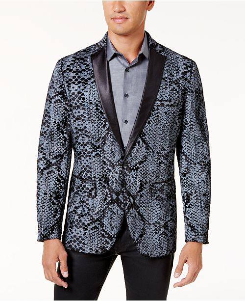 50f234bcd ... INC International Concepts I.N.C. Men's Slim-Fit Textured Snake-Print  Jacket, Created for ...