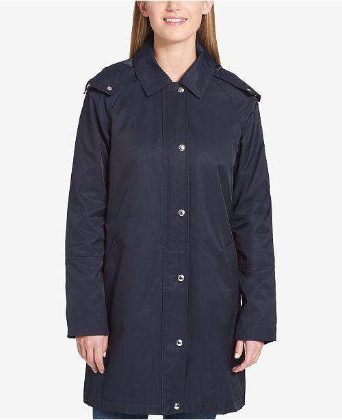 ba4a7ee6f Tommy Hilfiger Hooded Raincoat & Reviews - Coats - Women - Macy's