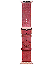 VogueStrap Smart Buddie Platinum Merlot Leather Strap for 38mm Apple Watch®