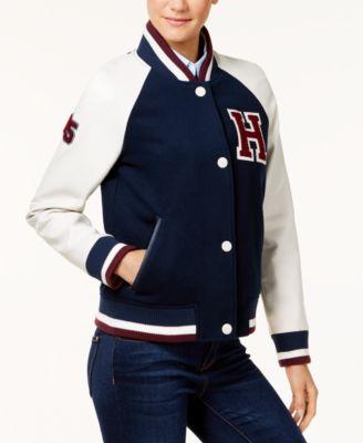 Tommy hilfiger varsity jacket womens