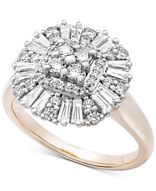 Wrapped in Love™ Diamond Cluster Ring (3/4 ct. t.w.) in 14k Gold, Created for Macy's