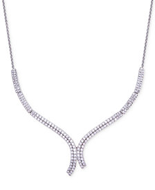 Wrapped in Love™ Diamond Curve Statement Necklace (1-1/2 ct. t.w.) in 14k White Gold, Created for Macy's