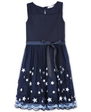 Speechless Illusion Stars Dress, Big Girls 4802215