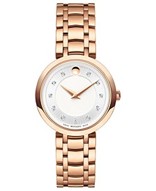 Women's Swiss 1881 Quartz Diamond-Accent Rose Gold-Tone PVD Stainless Steel Bracelet Watch 28mm