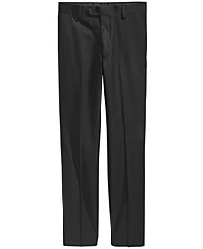 Lauren Ralph Lauren Solid Black Suiting Pants, Big Boys Husky