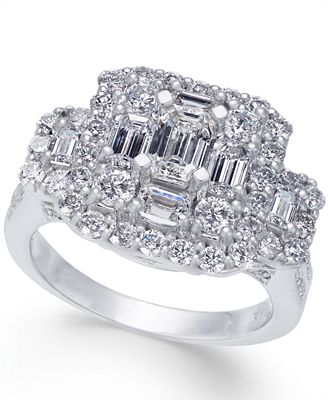Diamond Cluster Engagement Ring (2-1/2 ct. t.w.) in 14k White Gold