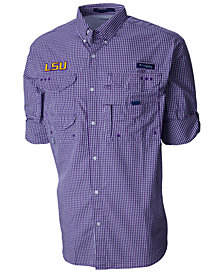 Columbia Men's LSU Tigers Super Bonehead Long Sleeve Shirt