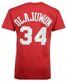 Mitchell & Ness Men's Hakeem Olajuwon Houston Rockets Hardwood Classic Player T-Shirt