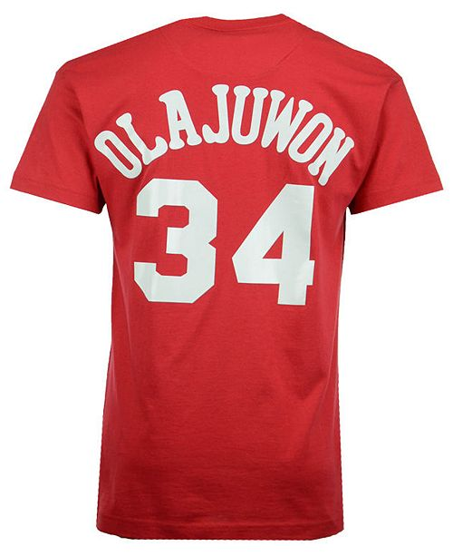 official photos c29de 9fb33 Men's Hakeem Olajuwon Houston Rockets Hardwood Classic Player T-Shirt