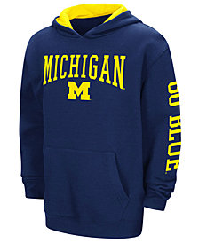 Colosseum Michigan Wolverines Zone Pullover Hoodie, Big Boys (8-20)
