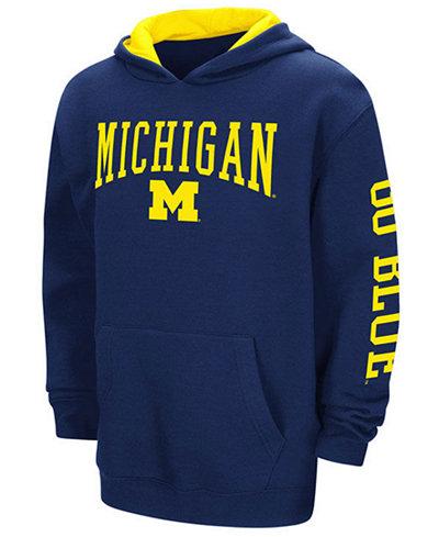 Colosseum Michigan Wolverines Zone Pullover Hoodie, Big Boys (8-20)