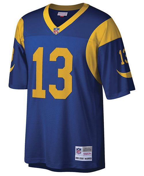 pretty nice d8999 df9fc Men's Kurt Warner St. Louis Rams Replica Throwback Jersey