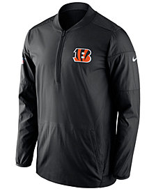 Nike Men's Cincinnati Bengals Lockdown Quarter-Zip Jacket