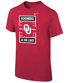 Nike Oklahoma Sooners Just Do It Football T-Shirt, Big Boys (8-20)